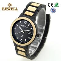 Wholesale Fashion Custom Stainless Steel Wooden Watches Bewell Men Women Size from china suppliers