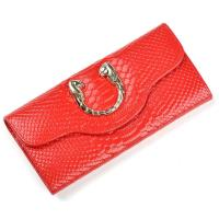 Wholesale 3 folder wallets snake pattern leather facotry direct price from china suppliers