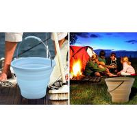 Wholesale 7L Blue Camping Silicone Collapsible Bucket For Outdoor Picnic , Camping from china suppliers