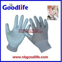 Wholesale 13G Grey Nylon with light grey nitrile coating glove from china suppliers