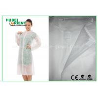 Wholesale Economical SMS Nonwoven Disposable Lab Coats with Knitted Collar and Velcro from china suppliers