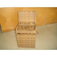 Wholesale Hand-Woven Brown Poly Rattan Storage Boxes For Bedroom / Storeroom from china suppliers