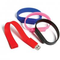 Wholesale full memory capacity silicon wristband usb drives with 512mb 1g 2g 4g 8g 16g from china suppliers