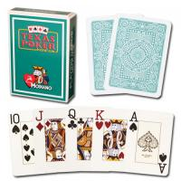 Wholesale XF Modiano Texas Poker 2 Jumbo Index|dark green Single Card Deck|100% Plastic Made in Italy|contact lens|magic trick from china suppliers