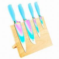 Wholesale Kitchen Knives Set with Wood Block, Customized Sizes and Colors Accepted from china suppliers
