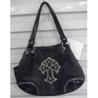 Wholesale western rexine leather bags crystal and turquoise cross from china suppliers