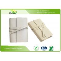 Wholesale Handmade Logo Custom Leather Notebook , ROSH White PU Lined Journals Notebooks from china suppliers