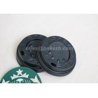 Wholesale LOGO Printing 8oz Black Plastic Lids For Paper Cups / Hot Coffee Cups from china suppliers