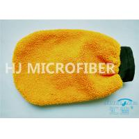 "Wholesale Orange Coral Fleece Microfiber Car Wash Mitt 80% Polyester 4.4"" x 8.8"" from china suppliers"