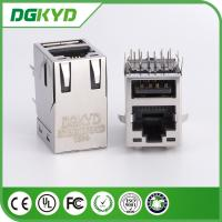 Wholesale DGKYD611B031DF5A1D RJ45 OVER USB W/ LED G/Y, 100 BASE T transformer, 6-1775855-3 from china suppliers