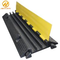Wholesale Strong Flexible One Meter Yellow Jacket 3 Channel Cable Protector , Rubber Cable Ramps from china suppliers