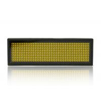 Wholesale Rectangle Yellow LED Name Badge Reusable Small LED Display Screens from china suppliers