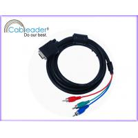 Wholesale 24K Gold plated 15 pin VGA Monitor Cables for Y / Pr / Pb component RGB display system from china suppliers