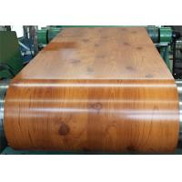 Wholesale PVC Laminated Metal Sheet Wood Grain VCM Color Coated Steel Coil Strong Toughness from china suppliers