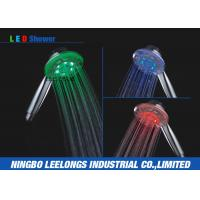 Wholesale Chrome Plated Overhead Shower Head LED Rain Shower Head without Battery from china suppliers