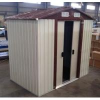 Wholesale 10x12' Prefab Apex Metal Garden Storage Shed With Sliding Door from china suppliers