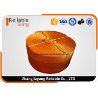 Wholesale CE Approved 10 Ton Orange  Polyester Sling Webbing For Heavy Duty Lifting Sling from china suppliers