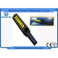Quality MD3003B1 OEM Hand Held Metal Detector Wands For Security , Yelllow Scanner Sticker for sale
