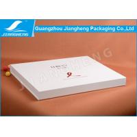 Wholesale Big White Book Shaped Cardboard Gift Boxes With Custom Logo Hot Stamped from china suppliers