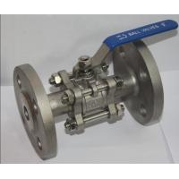 "Wholesale Full Bore 1/2"" SS304 3PC Flange Type Ball Valve , Blow Out Proof Stem from china suppliers"