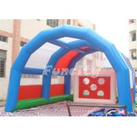 Wholesale Customized Size Inflatable Sport Games , Inflatable Soccer Shoot Games from china suppliers
