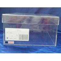 Wholesale SGS 32x23x17cm Transparent Perspex Shoe Box With Sticker Logo from china suppliers
