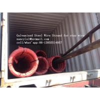 Wholesale Hot Dipped Galvanized Steel Cable Strand For Stay Wire BS 183 With 100m / Roll from china suppliers
