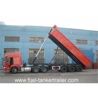 Wholesale 3 Axle 60T Tipper Semi Trailer with 6mm bottom and 4mm side of carriage body thickness from china suppliers