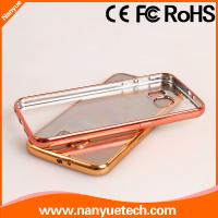 soft tpu clear transparent electroplating bumper case for Samsung Galaxy S6 Edge Plus