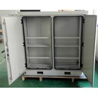 Wholesale Two Bay Stainless Steel SU304 Temperature Control Outdoor Battery Cabinet Anti-smoke Anti-corrosion Powder Coating from china suppliers
