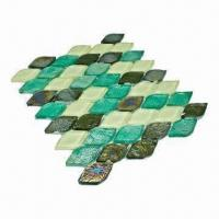 Wholesale Wall Tiles, Ideal as Crystal Glass Mosaic, Comes in Green Color Mixture from china suppliers