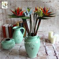 Wholesale UVG FBP112 uk PU plastic artificial strelitzia reginae beautiful flower bouquet for party decoration from china suppliers