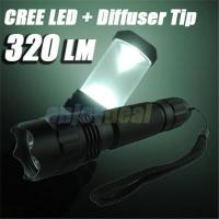 Wholesale Super-Bright CREE LED 310 Lumen 3-Modes Aluminium Alloy Waterproof Camping Flashlight Torch from china suppliers