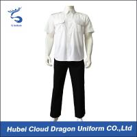 Wholesale Short Sleeve Poplin Cool Security Staff Clothing Custom Brand Label from china suppliers