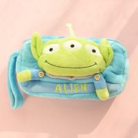 Wholesale Stationery Toy Story 3 Alien Plush Pencil Case For Promotion , Blue / Yellow from china suppliers