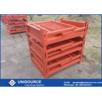 Buy cheap Stackable Foldable Metal Box Industrial Steel Pallet Cages For Logistics Transport from wholesalers