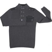 Wholesale Semi-breasted sweaters double-breasted Knitted sweater from china suppliers