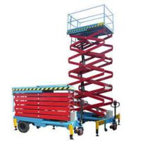 Wholesale Hydraulic Self Propelled Work Platform , Window Cleaning Electric Scissor Lift from china suppliers