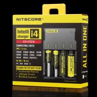 Wholesale NITECORE i4 4 channels multi-functional Intellicharger Li-ion/Ni-MH/Ni-Cd Universal Battery Charger from china suppliers