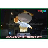 Wholesale Advertising 10m Giant Oxford Cow Inflatable Cartoon White Color With Led Light from china suppliers