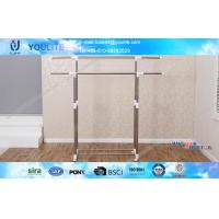 Wholesale Standing Metal Heavy Duty Garment Rack Double Poles with 4 Wheels from china suppliers