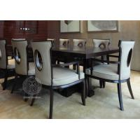 Wholesale Fabric Upholstered Modern White Leather Dining Room Chairs With Hole - Back from china suppliers