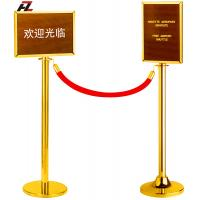 Wholesale Hotel Stainless Steel Barrier Post with Display Board-Crowd Barriers from china suppliers