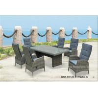 Buy cheap All Weather Wicker Garden Table And Chairs For Dining / Meeting UV Protection from wholesalers