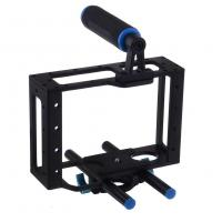 Wholesale Universal Camera Cage With Top Handle Fits Camera Shoulder Rig 15mm Rods from china suppliers