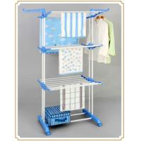 Wholesale Extendable Steel Folding Clothes Rack Standing Shelves for Towels / Storage Box from china suppliers