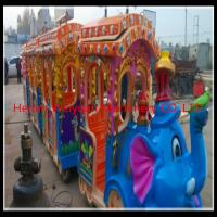 Wholesale Big attraction!! kiddie amusement park train rides elephant train for sale from china suppliers