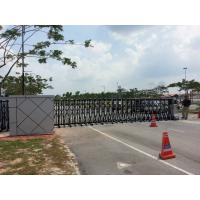 Quality Security Trackless Automatic Folding Gate Retractable For University for sale