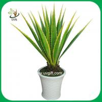 Wholesale UVG PLT02 high simulation plastic plants artificial american agave for home decoration from china suppliers
