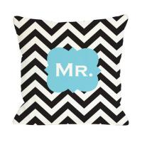 Wholesale monogrammed chevron Cotton Throw Pillows With invisible zipper from china suppliers